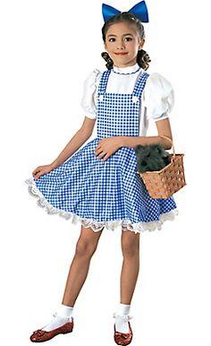 Girls Dorothy Costume Deluxe - Wizard of Oz