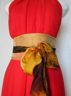 Gorgeous obi belts crafted from Japanese silk, perfect for cinching your waist for a slimming look.