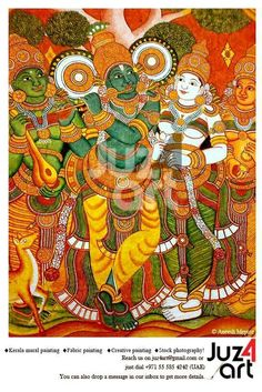 Venugopalam - Mural Painting done at Guruvayur Temple, Artist : Aneesh Mepate, Paintings can be done on demand! For More Details : Contact juz4art@gmail.com or call us on +971 55 585 4242 (UAE). #juz4art, #mepatemurals, #kerala_mural_painting, #Indian_art, #guruvayur, #aneeshmepate, #jayasreemenon, #kerala_mural_art, #KeralaMurals, #Kerala_Murals, #Acrylic