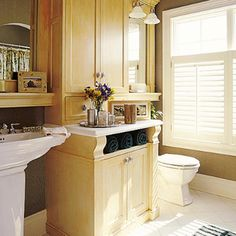 Include Plenty of Storage - Comfortable Guest Baths - Southern Living