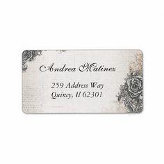 vintage address label