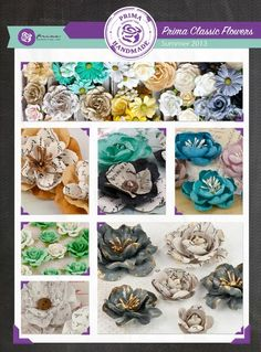Beautiful Flowers From Prima's New Release for CHA Summer Scrapbook Supplies, Scrapbooking, Scrapbook Paper Flowers, Websters Pages, Prima Marketing, Amazing Flowers, New Product, Floral Arrangements, Bows