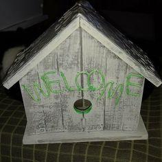 Vintage restored birdhouse