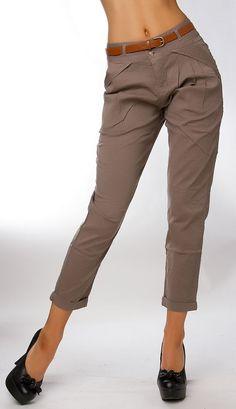Youngfashion Damen Chino Hose, Businesshose, Farbe Braun, Größe XL