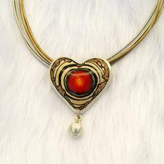 """Serce z kolekcji """"Jesienna Anty-Deprecha"""" Gulbierz Studio - jewellery"""