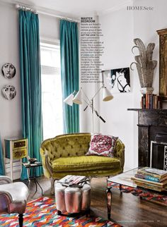 About Eclectic Interior Design Ideas for Your Best Home Eclectic Interior Design Living Spaces LivingRoom Decor HomeDecor Ideas 28640147616788912 Eclectic Living Room, Eclectic Decor, My Living Room, Home And Living, Living Room Decor, Living Spaces, Eclectic Curtains, Dining Room, Modern Living