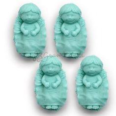 Molde Jabón Niño Jesús, 4 bebés.