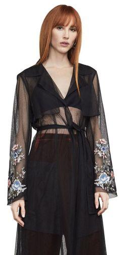 961c979b34a90 BCBG Max Azria Intarsia Embroidered Tulle Jacket Size Med Black MRP for sale  online   eBay