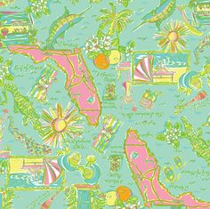 State of Florida Lilly Pulitzer Pattern