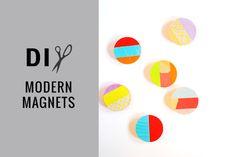 DIY // modern magnets