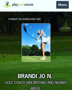 Proud to be featured golf coach in San Antonio on @playyourcourse #golf #golflessons #golfpro #performancegolf