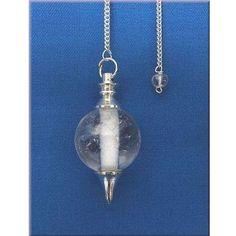 Pendel versilbert mit Bergkristallkugel / mehr Infos auf: www.Guntia-Militaria-Shop.de