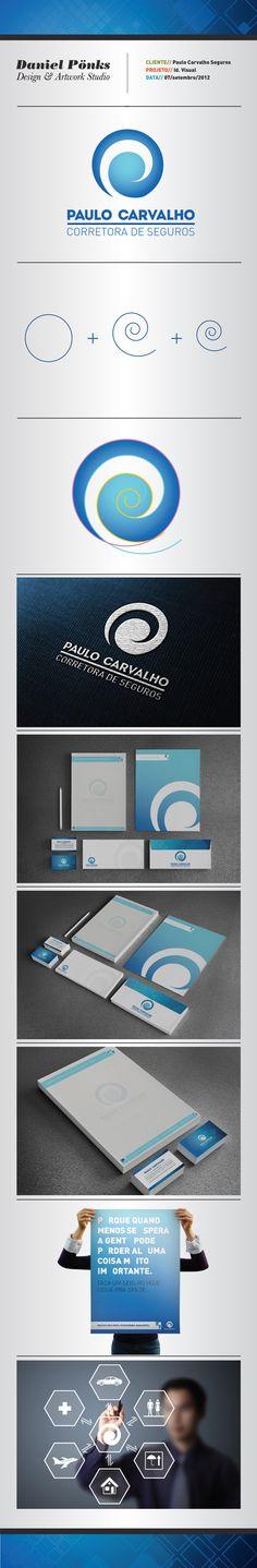 Branding and Visual Identity: Paulo Carvalho Seguros | Paulo Carvalho Insurance by Daniel Pönks, via Behance