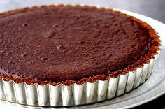 dark chocolate tart with gingersnap crust | smittenkitchen.com