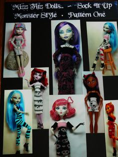 Monster High Dolls  Pattern for Dresses and Cat door mizzfitzdolls, $7.50