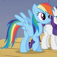 1102068__safe_rainbow+dash_rarity_screencap_animated_raised+hoof_blinking_the+show+stoppers.gif