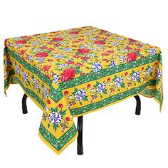 This Is A 54 X 54 Inch Square Tablecloth In 200 Thread Count Cotton Fabric.  It Is In Pleasant Colors Thatu2026   Table Linen   Home Decor   Christmas Decor  ...