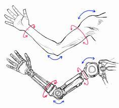 リアル系ロボットを描くのであれば、関節の機構を正しく表現する事ですね。...