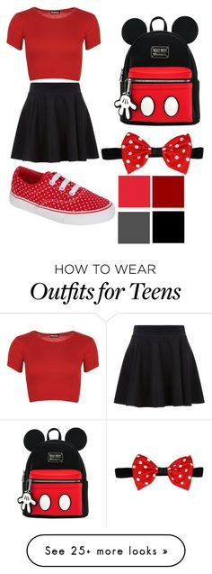 """Mini mouse style"" by siennajaneedwards on Polyvore featuring WearAll"