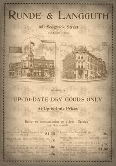 Vintage Advertising Dry Goods Store  Early by NostalgicEphemera