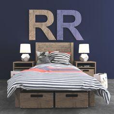 3D Bed Bedroom Set Model - 3D Model