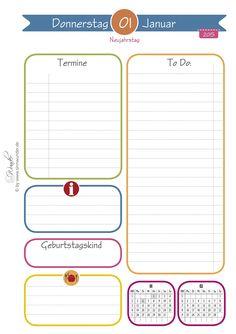 SinnWunder Kalendereinlagen 2015, A5, Design HappySinn, 1 Tag 1 Seite, FSC zertifiziertes Papier 1. Tag, Buero, Organisation, Bullet, Personal Organizer, Stationery Set, Diy Home Crafts, Random Stuff, School