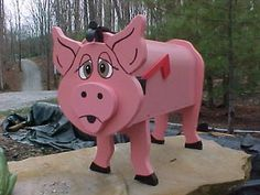 PIG MAILBOX PIGS MAILBOXES HOG HOGS - GREAT GIFT Tony S will love this