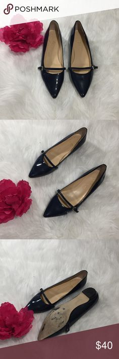 Navy Blue Ivanka Trump Pointed Flats GUC Sz 9.5 Navy Blue Ivanka Trump Pointed Flats GUC Sz 9.5 Ivanka Trump Shoes Flats & Loafers