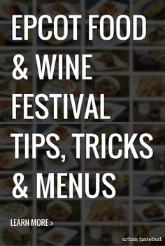 Epcot Food and Wine Festival Tips and Strategy
