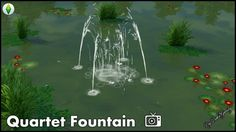 Mod The Sims: Quartet Fountain (New) by Bakie • Sims 4 Downloads