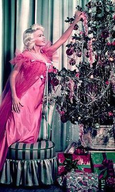 Jayne Mansfield c. 1960 vintage Hollywood Christmas photo