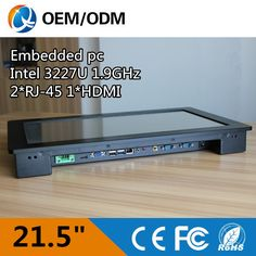 """I3 CPU 21.5"""" Industrial pc touch screen Resolution 1920X1080 panel pc With 2GB RAM / 32G SSD desktop/wall hanging/embedded"""