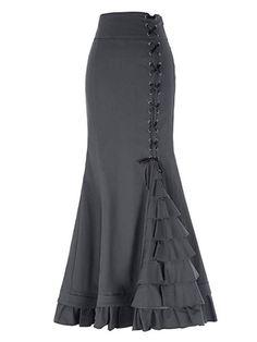 Belle Poque Vintage Long Ruffled Fishtail Skirt Loving it! African Dresses For Women, African Attire, African Fashion Dresses, Fashion Outfits, African Women, African Wear, Ghanaian Fashion, Ankara Fashion, African Inspired Fashion