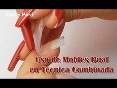 Uso de Moldes Dual en Técnicas Combinadas / Xnails Peru - YouTube Manicure Y Pedicure, Art Nails, Zebra Nails, Gel Acrylic Nails, Nails, Fingernail Designs, Hands, Nail Art