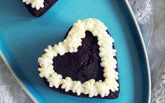 Lækre chokoladehjerter med smørcreme