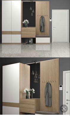 Discover recipes, home ideas, style inspiration and other ideas to try. Wardrobe Door Designs, Wardrobe Design Bedroom, Bedroom Bed Design, Home Room Design, Home Decor Bedroom, Home Entrance Decor, House Entrance, Condo Interior, Home Interior Design