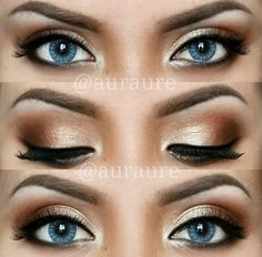 Perfect makeup for blue eyes.