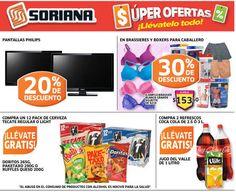 Soriana: 30% de descuento en brassieres, boxers y Más Soriana Híper cuenta con muy buenas ofertas y promociones para este fin de semana: - Compra 2 refrescos de Coca Cola de 2.5 0 3 Lt. - Compra un 12 pack de cerveza Tecate regular o light y llete GRATIS Doritos 265 gr. o Ruffles Queso 200 gr. - ... -> http://www.cuponofertas.com.mx/oferta/soriana-30-de-descuento-en-brassieres-boxers-y-mas/