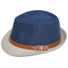 Unisex Linen Jazz Panana Outdoor Beach Hats w/Buckle 11 Colors