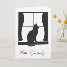The loss of a loved pet cat is never forgotten: With Sympathy for the Loss of Your Cat Card Cat Cards, Kids Cards, Leaving Cards, Pet Sympathy Cards, New Home Cards, Tattered Lace Cards, Memory Crafts, Deepest Sympathy, Cat Silhouette