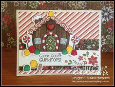 Creative Love Affair: Pretty Cute Stamps September 2015 Release Sneak Peek - Gingerbread House!