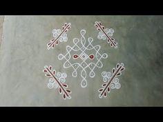 Simple Rangoli Designs Images, Rangoli Designs Flower, Rangoli Border Designs, Rangoli Ideas, Rangoli Designs With Dots, Rangoli With Dots, Kolam Designs, Rangoli Borders, Small Rangoli