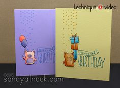 Fun Birthday cards by Sandy Allnock using brand new Simon Says Stamp Exclusives.