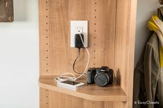 Tip of the Day: Create a charging station in your entryway so all your must-have electronics are always charged and ready to go when you walk out the door.