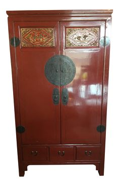 Vintage Chinese Wedding Cabinet on Chairish.com