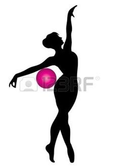 Vector silhouette of gymnast with pink ball photo Ballet Drawings, Stencil Stickers, Octopus Art, Ballet Art, Silhouette Clip Art, Yoga Dance, Africa Art, Ankle Tattoos, Fashion Design Drawings