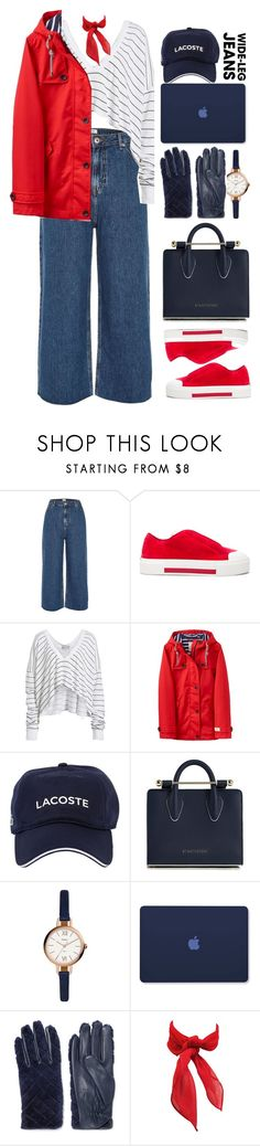 """0035"" by mykatty091 ❤ liked on Polyvore featuring River Island, Alexander McQueen, Wildfox, Joules, Lacoste, Strathberry, FOSSIL, Sandro, denimtrend and polyvorecontest"