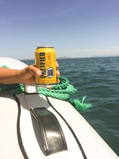 Beers on a boat excursion turing the islands of Loreto. #VDPLFam #villadelpalmarl // www.cupcakesandcutlery.com