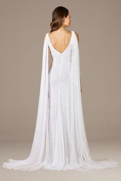 Lara Gia Beaded Tank Wedding Dress with Streamers   David's Bridal Davids Bridal, Streamers, Tulle, White Dress, Wedding Dresses, Ideas, Fashion, Bride Dresses, Moda
