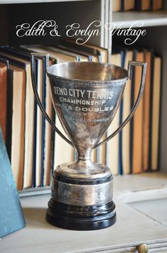 Vintage Tennis Trophy Cup 1920s Championship by edithandevelyn on Etsy